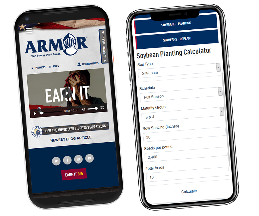 Download the Armor Seed App from the App Store or Google Play