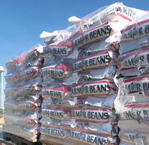Armor Seed Bean Bag on a pallet.