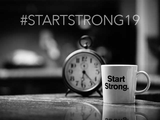 Start Strong 2019 Promotional Graphic